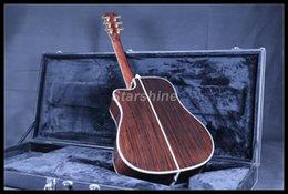 guitare électrique oem st Promotion JEAN6102 Guitare acoustique acoustique de haute qualité pleine Cutway D45A Ablone Incrustation ébène Touche Os NutBridgeSaddle