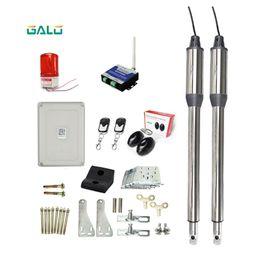 Swing automatico online-AC 110V / 220V Attuatore lineare elettrico 300kgs Sistema motore Motor Automatic Swing Gate Opener + 4 telecomando