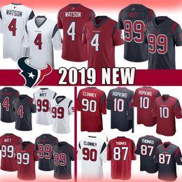 2019 87 jersey 4 Deshaun Watson 99 J.J. Watt Texans Jersey Houston 2019 nuovi Texans limitati 10 DeAndre Hopkins 87 Demaryius Thomas Clowney Pullover di calcio sconti 87 jersey