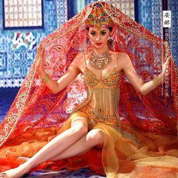 2019 trajes hanfu Anna Exotic Style Indian Princess Costume Saree para Fotografía o Show de Traje Hanfu trajes hanfu baratos