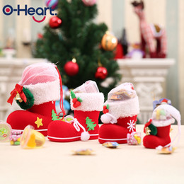 christmas gift boot Promo Codes - 1pcs Merry Christmas Decor Candy Boots Gift Bags Home Pen Holder Christmas Decorations for Home New Years Gifts for Kids