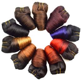 Pacotes ombre onda solta on-line-Black Friday Deals Bob peruana solto Wave 4 Pacotes Atacado 12 cores Ombre Weave Primavera Curly molhado e ondulado Humanos extensões do cabelo
