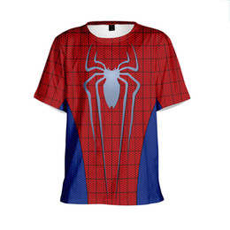 spider woman suits Coupons - 2019 Spider Chivalrous Hero Expedition Number Printing 3d Short T Male Suit-dress