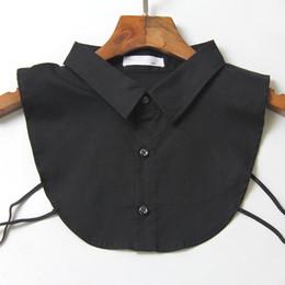 Medias muñecas online-Moda estilo coreano collar de la muñeca de la vendimia elegante falda media camisa de las mujeres elegantes blusa desmontable