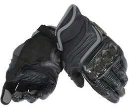 black leather race gloves Promo Codes - Dain Mens Carbon D1 Short Leather Gloves Dirt Bike Motocross Motorcycle Racing Black Gloves