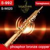 Saxophone à tubes en Ligne-tube droit saxophone soprano YANAGISAWA S-WO20 cuivre bronze de phosphore S-992 BB soprano Sax avec embout buccal étudiant professionnel 2-Neckse