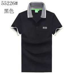 nuove camicie di stile per sottile Sconti polo new style men Designer tshirt Brand Business summer T shirt in cotone classic Slim fit Magliette traspiranti BOSSES ordinare abbigliamento uomo 128