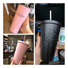 New Starbucks Tazza in acciaio inox Candy Color INS Tazza da tavolino Tazza da caffè Fashion Couple Tazza da 300ml cheap starbucks mugs coffee cup da tazza di caffè di tazza di starbucks fornitori