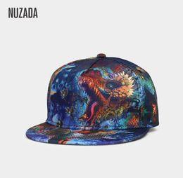 14c329cded4 Brand NUZADA Fashion Personality 3D Printing Men Women Baseball Cap  Adjustable Hats Punk Style Bone Unique Caps Cotton Snapback 111