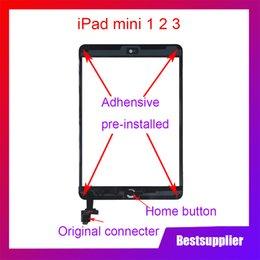 2019 samsung tab branco Para ipad mini 1 Mini 2 Mini 3 A1432 A1454 A1455 Painel Touch Screen Touch Screen Digitador Digitador Botão Início Com Conector IC Frete Grátis