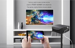 sintonizador hdmi lcd tv Rebajas Proyector YG600 de alta definición 5.8 pulgadas Proyector LED mini proyector casero Fuselaje 31 * 24 * 12 cm VGA + 2HDMI + USB + AV / SD envío rápido