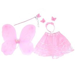 Fille de 4 Pcs Set Belle NOUVELLE Aile De Fée Elf Ailes De Papillon Fournitures Costume Filles De Noël Dress Up Drop Shipping ? partir de fabricateur