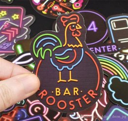 2019 apertos para guiador kawasaki cheper Neon etiqueta 500 peças populares cartoon caso personalizado etiqueta dos grafittis notebook telemóvel motocicleta bonde 003