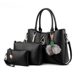 designer bolsas conjuntos Desconto Designer-Mulheres Saco Senhoras Top-Handle Bags 2018 Moda Feminina Messenger Bags 3 pcs Bolsa Set PU Composto de Couro Bolsa Bolsa Carteira
