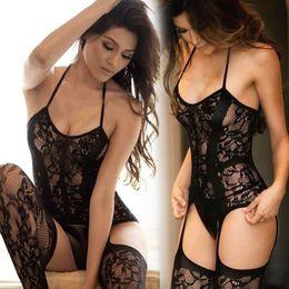 Vêtements de nuit pour le sexe en Ligne-Femmes Lingerie Sexy Taille Plus Hot Erotic Sous Babydoll Résille Costumes de nuit Sex Lenceria Erotica Mujer Sexi