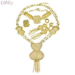 a74a64a4312a 2019 bisutería al por mayor Sistemas de la joyería nupcial liffly Dubai oro  sistemas de la