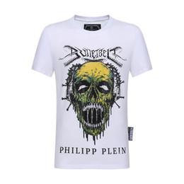 7ac731c56a Np PP Skull Printed Mens Luxury Designer Tshirts Verano Casual Hombre Mujer  Hip Hop Crew Neck Camisetas de manga corta Camisetas con efecto