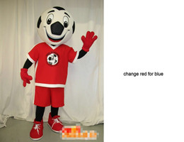 Custom football mascot costume Adult Size free shipping change red for blue