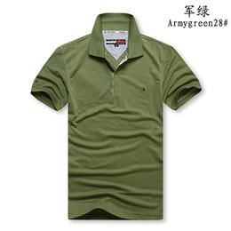 2019 camisa polo slim fit Polo da uomo a manica corta Polo a maniche corte in cotone Homme Slim Fit Camisa Polo Uomo Tops Taglie sconti camisa polo slim fit