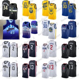 Argentina Giannis 34 Antetokounmpo Stephen Curry 30 camiseta 45 Mitchell Paul 13 George Leonard 2 hombres jerseys del baloncesto Suministro
