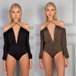 hauts à bretelles Promotion Body sexy en satin à épaules dénudées et cache-maillot corporel Tops Blouse 2019 à manches longues et licou
