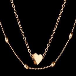 multi farbe perlen halskette Rabatt Gold Farbe Liebe Herz Choker Halskette Für Frauen Multi Layer Perlen Chocker Halsketten Kragen