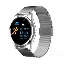 Bandas de reloj de gama alta online-MYX8 de gama alta Reloj Banda de Acero Reloj Inteligente Monitor de Ritmo Cardíaco Bluetooth Llamada Impermeable Podómetro Deportes Negocios Pulsera Inteligente coche