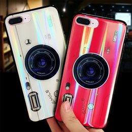 cell phone camera cover Coupons - Creative Aurora Colorful Phone Case For iPhone 7 8 X TPU Phone Cover Cell Phone Protector With Holder Camera