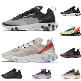 gold huaraches Rabatt nike react Sneaker Damen Laufschuhe für Herren Triple Black Huaraches Atmungsaktive Turnschuhe Outdoors Schuhe Größe 36-45