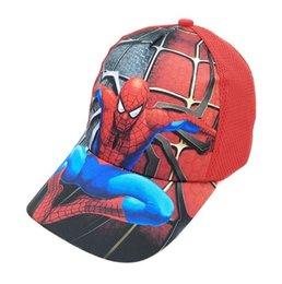 Canada 2019 Nouveau Dessin Animé Spiderman Chapeau Enfants Dessin Animé Coton Casquette De Baseball Enfants Hip Hop Cosplay Chapeau cheap caps children baseball Offre