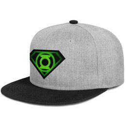 cap superman gold Promo Codes - Custom Womens Mens visor hat Green Lantern superman logo flat Brim Hip Hop Snapbacks caps One Size Beach Hat