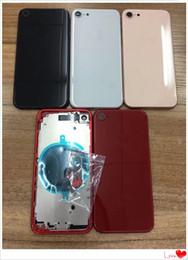 2019 iphone 6s logement de remplacement Etui de batterie pour iphone 8 8G 8P 8 Plus X Batterie Cache arrière Capot de porte Cache arrière Châssis Cadre Complet