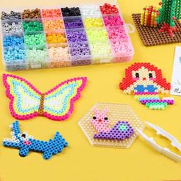 2019 cuentas de hama 5mm Aqua beads 5mm Hama Beads 3D Spray de agua para la educación DIY Puzzles juguetes Para Niños brinquedos cuentas de hama 5mm baratos