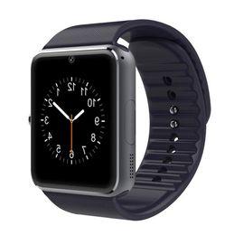 2019 orologi sportivi gps Smart watch GT08 schermo a colori da 1,5 pollici passo telecamera di monitoraggio del sonno intelligente usura orologio sportivo Bluetooth scheda: IPHONE Samsung sconti orologi sportivi gps