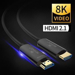 2019 hdmi audio video cords Câble fibre optique HDMI 2.1 Ultra-hd (uhd) 8k Câble 120hz 48gbs avec audio vidéo Cordon Hdmi Hdr 4: 4: 4 sans perte T6190613 hdmi audio video cords pas cher