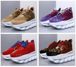 2018 todo color de alta calidad Cadena de reacción zapatillas de deporte de diseño de lujo zapatillas de moda del distrito de envío libre de DHL desde fabricantes