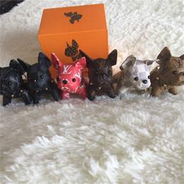 2019 bambole francesi 2019 nuovissimo bulldog francese portachiavi design bambola in pelle portachiavi accessori borsa di lusso bambole francesi economici