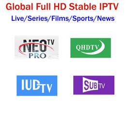 Жить бокс тв онлайн-Европа IPTV подписка NEOTV QHDTV IUDTV SUBTV 4500 + Lives Италия Французский Германия Арабский Швеция Бельгия Поддержка Android Smart TV Box M3U MAG