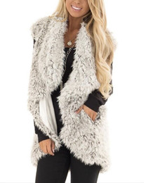 5404db1eedf957 Mode Kunstpelz Frauen Lange Pelzjacke Mantel Weiche Warme Sleeveless Plus  Size Outwear Parkas V-ausschnitt Mode Weste gilet frauen s gilet Outlet