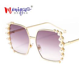 5b2a003d96d Discount designer sunglasses pearls - Sunglasses Luxury Oversized Sunglasses  Women Pearl Decoration Brand Designer Vintage Big
