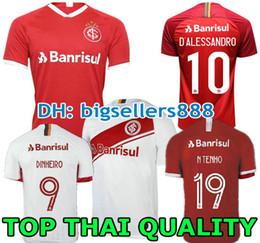 N. LOPEZ D.ALESSANDRO POTTKER 19 20 Camiseta de fútbol Brasil CLUB Internacional MUJER ROJA 2019 2020 Camiseta de fútbol internacional desde fabricantes