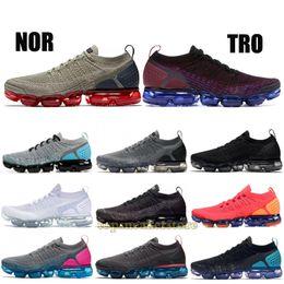 new product ce6de 2ed2d 2019 Knit BHM 1.0 2.0 Fly Running Shoes Uomo Donna Rainbow Bianco Vasto  Grigio Dusty Cactus Top Designer Scarpe Sport Sneakers