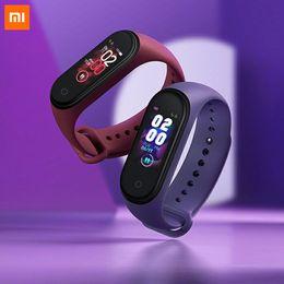 2019 pulsera bluetooth xiaomi mi banda Xiaomi Mi Banda 4 Pantalla pulsera inteligente banda 4 Mi SmartBand aptitud Traker Bluetooth impermeable del deporte de Smart Band
