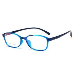 2019 vasos de plástico personalizados Hot Ins Popular 5 colores característicos marco de gafas de plástico cuadrado Venta al por mayor moda decorada personalizada miopía gafas marco vasos de plástico personalizados baratos