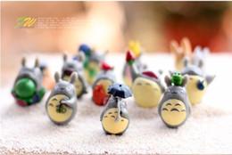 figura de fada anime Desconto 12 pçs / set dos desenhos animados meu vizinho totoro mei diy resina fada artesanato em miniatura japonês bonito anime micro gnome terrário figuras presente brinquedo