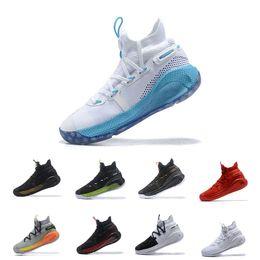 chaussure stephen curry blue Promotion Under Armour Stephen Curry Chaussures de basket-ball de luxe chauds Stephen VI 6 6s noir bleu vert gris rouge blanc jaune hommes marque design respirant baskets  7-12