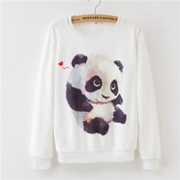 einhorn gold Rabatt Frauen Dreamcatcher Pullover Herbst Winter Pullover Cartoon Kawaii Pink Unicorn Print Fleece Lose Baumwolle Frauen Panda
