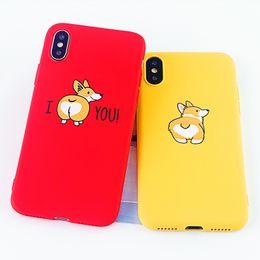 Смешные крышки сотовых телефонов онлайн-Чехлы для мобильных телефонов для IPhone 7 8 Plus Чехол для мобильного телефона Funny Cute Corgi с мягкой силиконовой отделкой