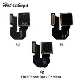 Lente flex on-line-Parte de trás Traseira Principal Módulo da Câmera Cabo Flex Para o iphone 6 6 plus 6 s plus com fita substituição da lente peças de reparo