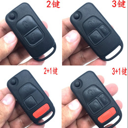 Car Key Cover Fit for Mercedes Benz SLK Class E113 ACES W168 Car Key Case Car Key Shell Remote Key Fob Flip 2 Button Replacement Keyless Entry Remote Control Key Fob